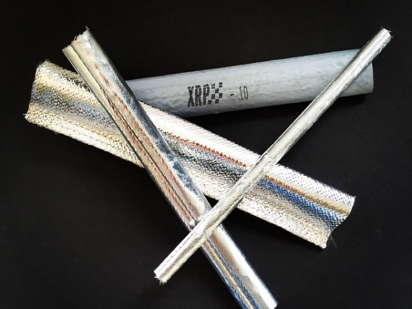 """For Xtreme heat and flame protection has you covered with our glass fiber insulation sleeving. Smooth Silver Silicone covered Fyre Jacket for high insulation and direct flame endurance or for radiant heat rejection, a choice of our in house sewn Mylarized aluminum coated Fyre Foil II or our ultra lightweight Fyre Foil Lite with an internal seam for a clean outer surface that is even made in a 3/8"""" ID size to cover -3 brake lines for approval. A wide choice of tube sizes, extra long lengths and flat blankets as well"""