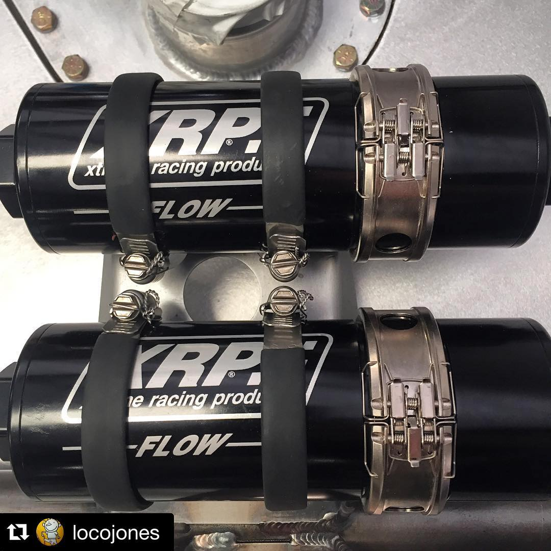 Repost @locojones … Thanks for the awesome photo! ・・・ Just finished  prepping some @xrpracing fuel filters with clamshell style quick disconnect  couplings