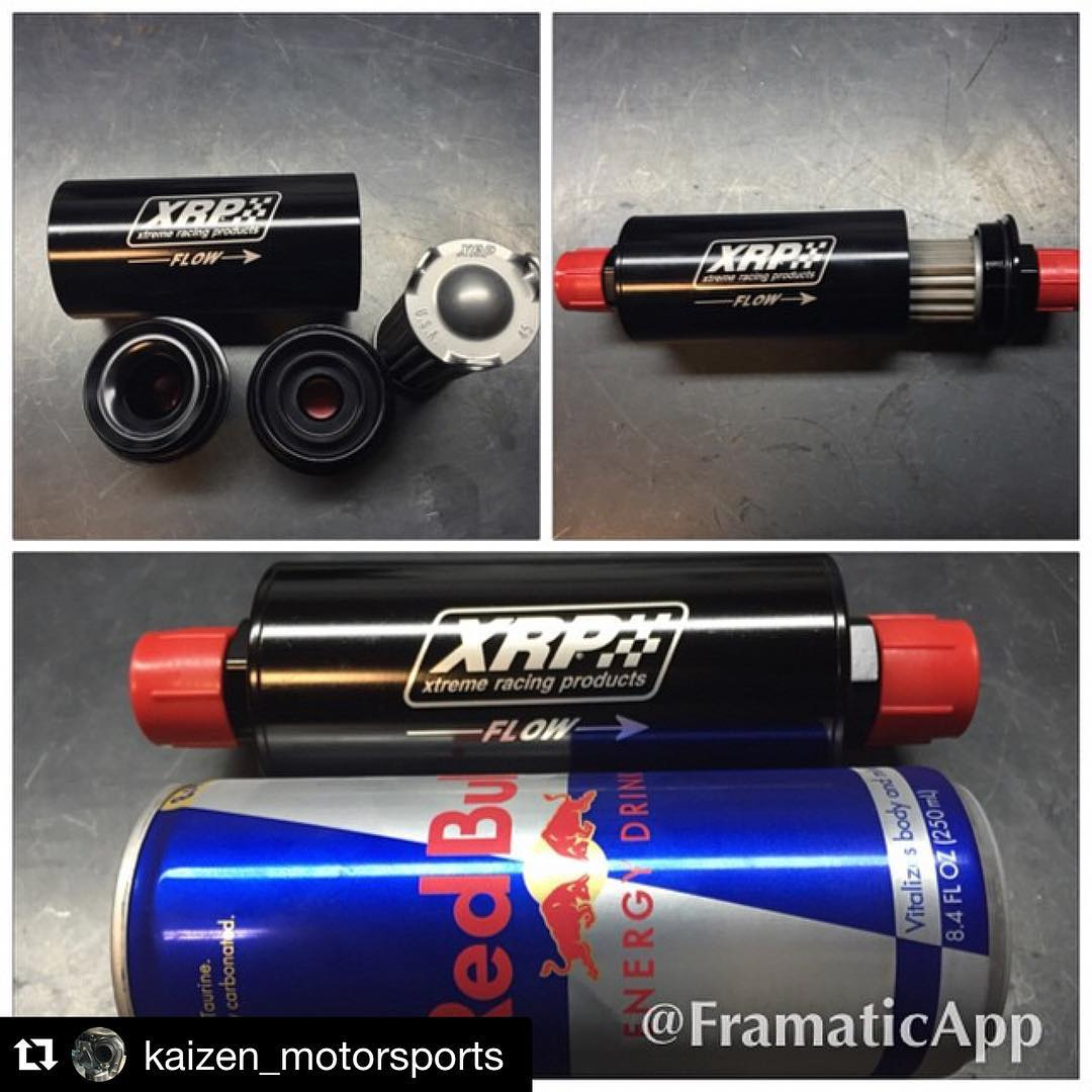 @xrpracing filter lock and loaded to help keep fuel system clean! @redbull  can ready for me as I get this fuel system completed in the trunk